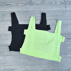Urban Outfitters Ribbed Knit Bra Tops (2) Med NWOT